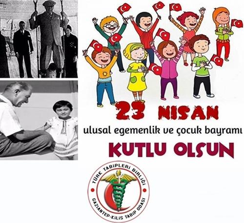 23 Nisan Ulusal Egemenlik ve Çocuk Bayramımızı Kutlarız.