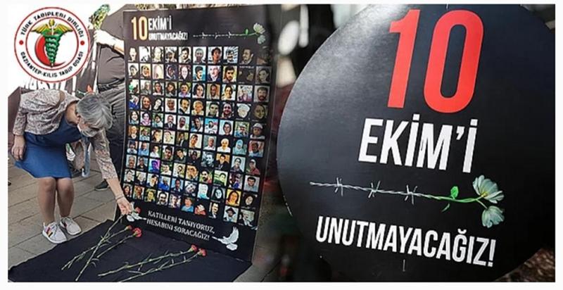 10 Ekim Gar katliamı hakkında basın açıklaması düzenlendi.