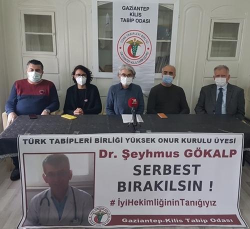 Dr. Şeyhmus Gökalp'in serbest bırakılması ile ilgili basın açıklaması düzenlendi.