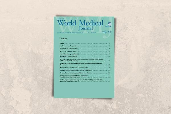 Türkiye'de Hekimlik Mesleğini Tehdit Eden Koşulları Konu Alan TTB Makalesi, WMJ Son Sayısında Yayımlandı
